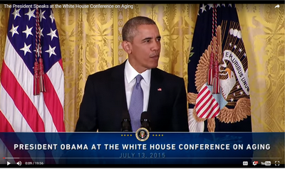 President Obama Speaking at the Conference on Aging