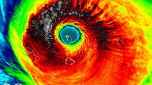 Hurricane Irma Over Bermuda