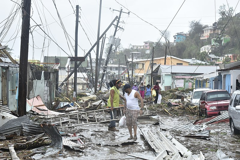 Damage in Puerto Rico by Hurricane Maria