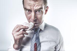 Man Eating Biscut