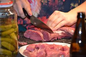 Preparing Meat for Diner
